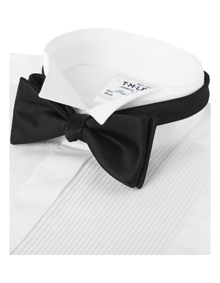 Black Satin Self-Tie Bow Tie Details image 2