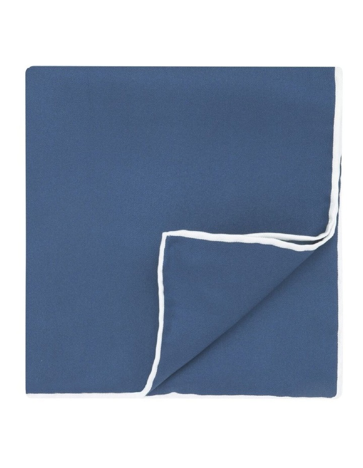 Light Navy Silk Pocket Square image 1