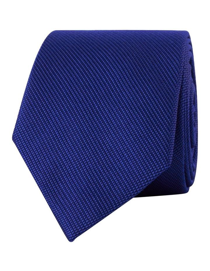 Royal Blue Textured Silk Tie image 1