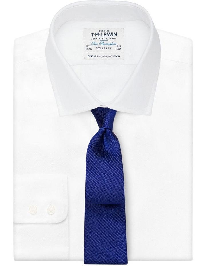 Royal Blue Textured Silk Tie image 2