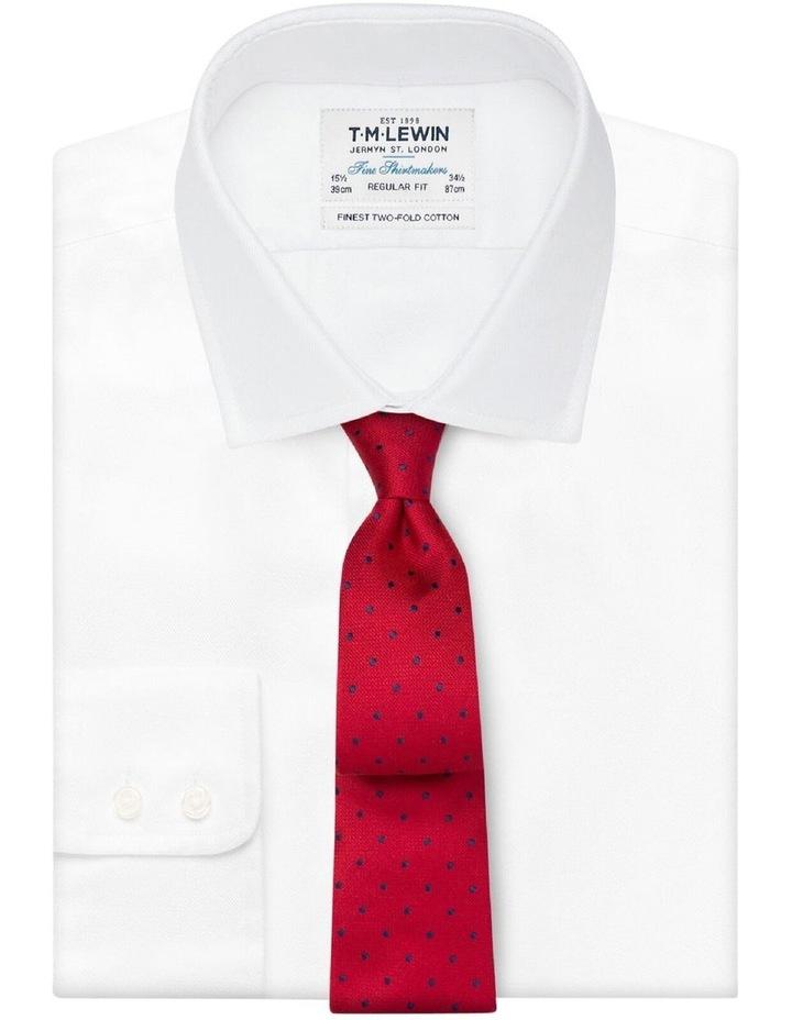 Red Navy Textured Spot Tie image 2