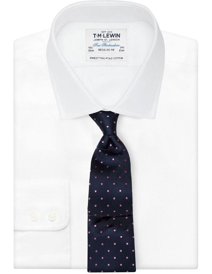 Navy & Pink Spot Silk Tie image 2