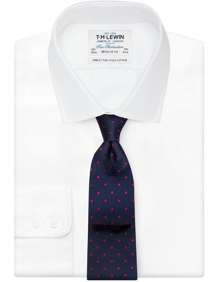 Navy Red Spot Silk Tie image 2