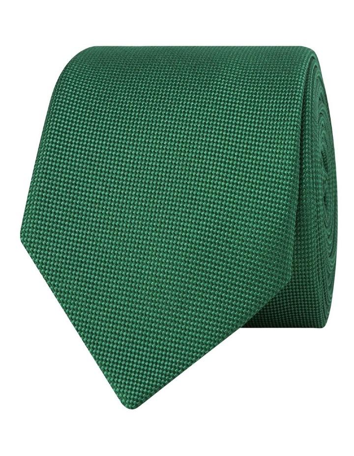 Green Textured Silk Tie image 1