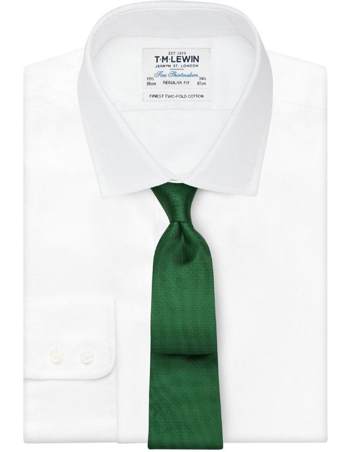 Green Textured Silk Tie image 2