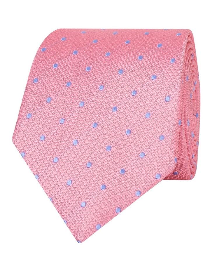 Pink Textured Spot Silk Tie image 1