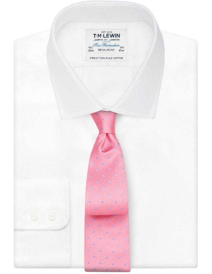 Pink Textured Spot Silk Tie image 2