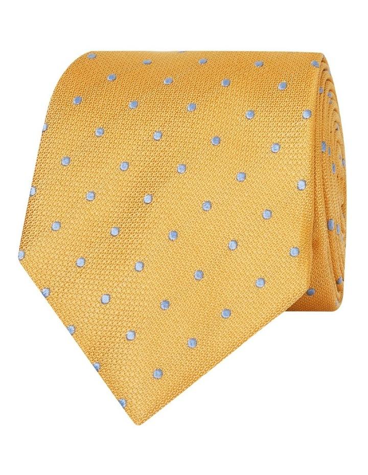 Yellow Spot Textured Tie image 1