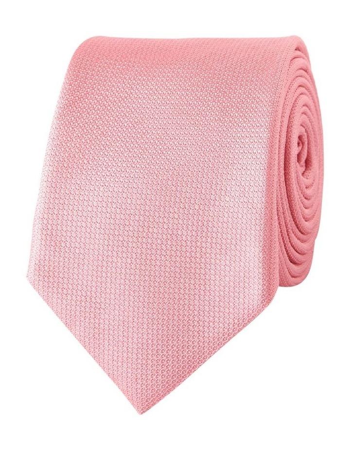 Pink Textured Silk Slim Tie image 1