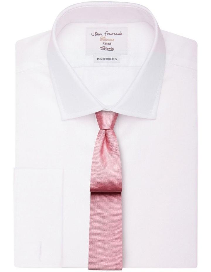 Pink Textured Silk Slim Tie image 2