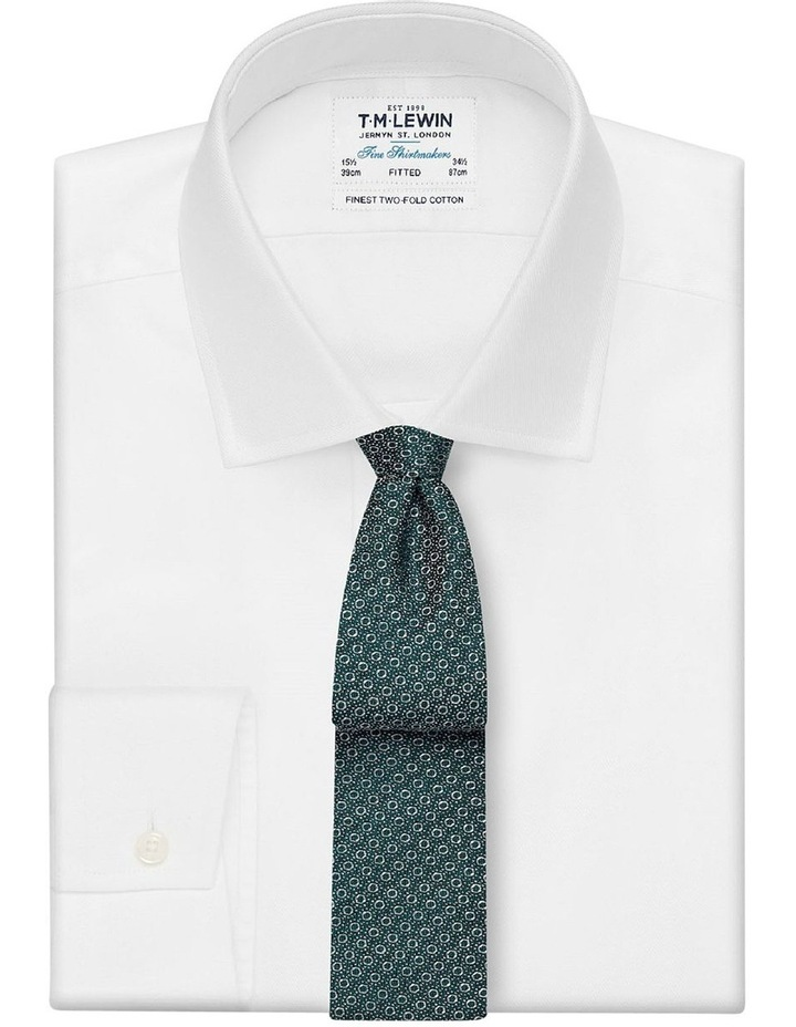 Premium Green Geometric Circle Spot Silk Slim Tie image 2