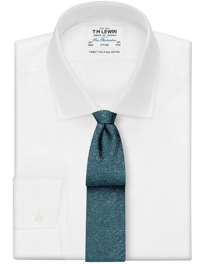 Premium Green Shadow Leaf Silk Slim Tie image 2