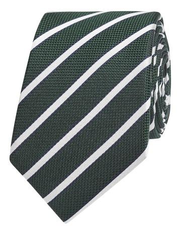 2ef97604c8c0 T.M LewinGreen Textured Stripe Silk Slim Tie. T.M Lewin Green Textured Stripe  Silk Slim Tie