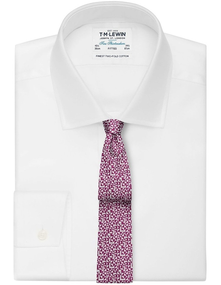 Pink Abstract Triangle Silk Slim Tie image 2