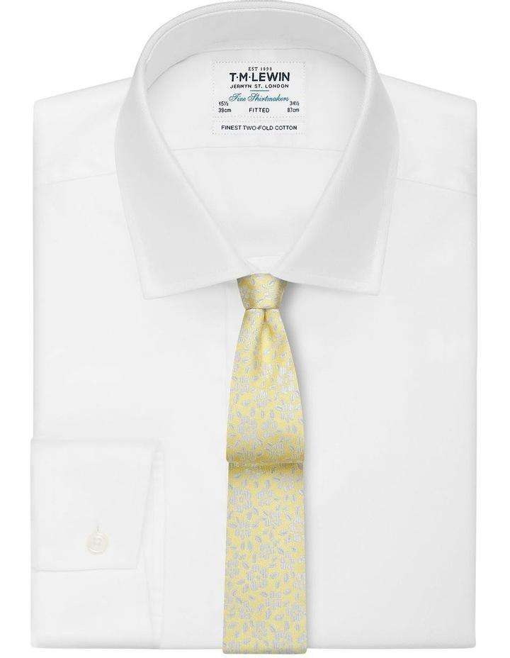 Yellow Floral Jacquard Silk Slim Tie image 2