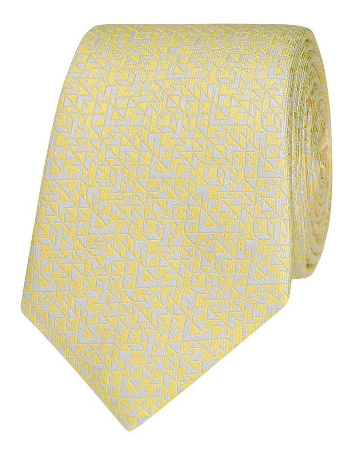 Yellow Abstract Triangle Silk Slim Tie image 1