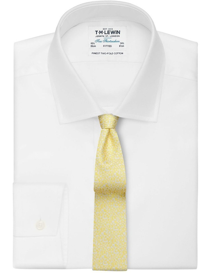 Yellow Abstract Triangle Silk Slim Tie image 2