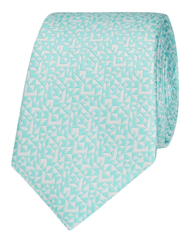 Mint Abstract Triangle Silk Slim Tie image 1
