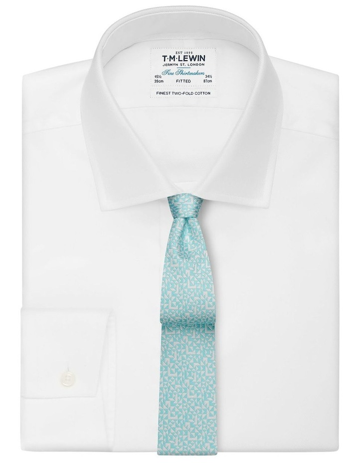 Mint Abstract Triangle Silk Slim Tie image 2