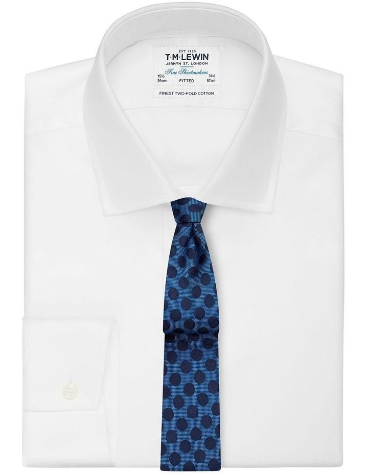 Blue And Navy Large Polka Dot Silk Slim Tie image 2