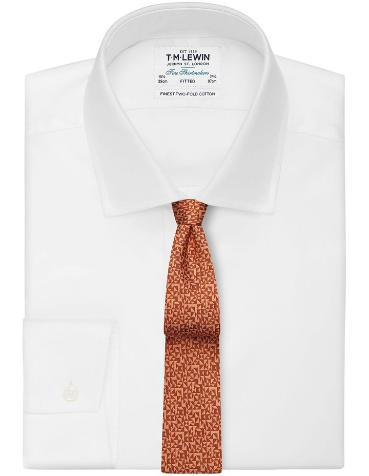 Orange Abstract Triangle Silk Slim Tie image 2