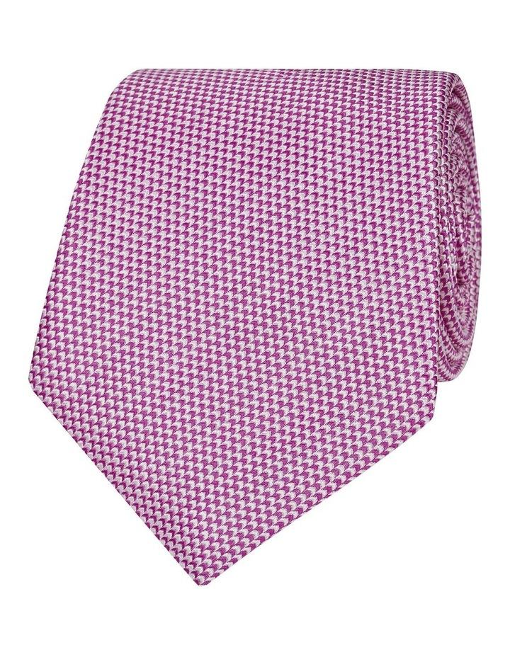 Pink Micro Wave Silk Tie image 1