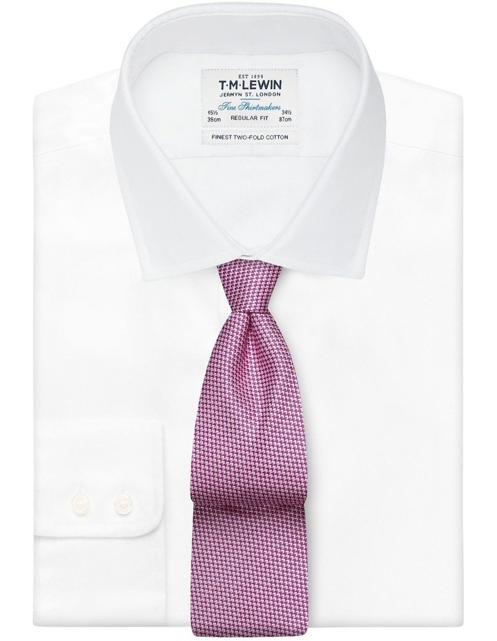 Pink Micro Wave Silk Tie image 2
