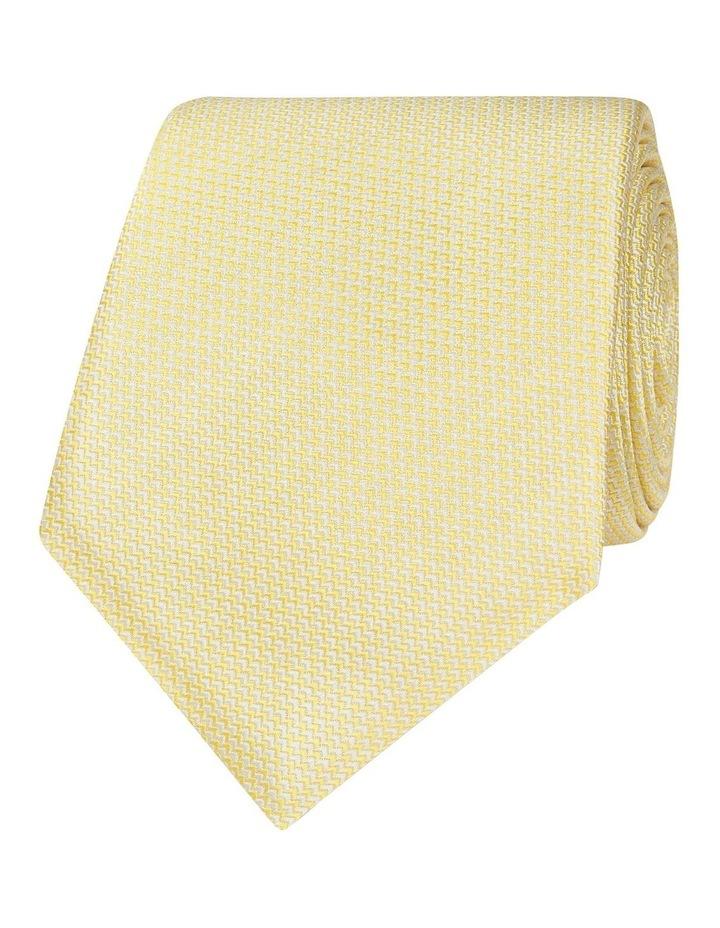 Yellow Micro Wave Silk Tie image 1