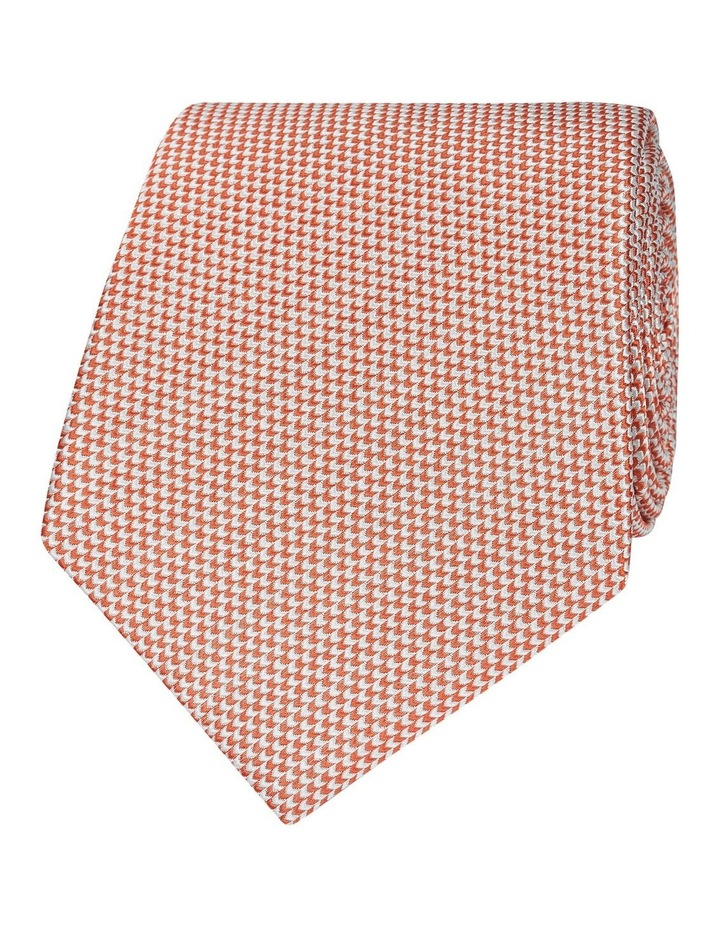 Orange Micro Wave Silk Tie image 1
