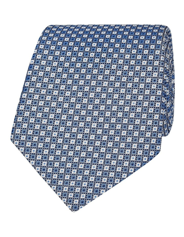 Blue Geometric Spot Silk Tie image 1