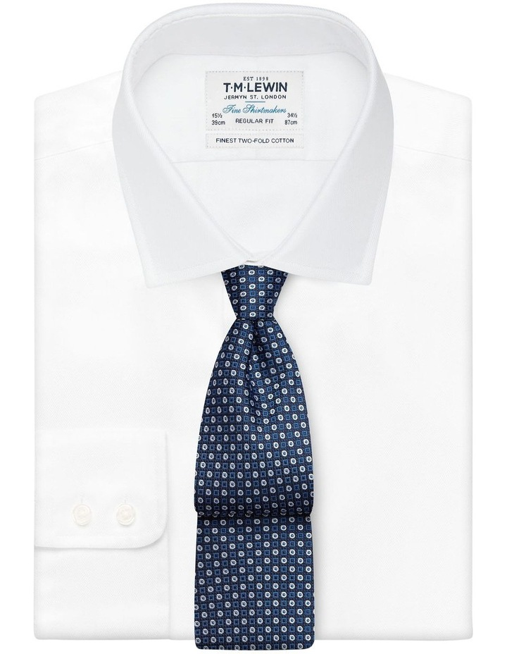Blue Geometric Spot Silk Tie image 2