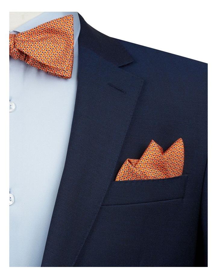 Orange Basket Weave Silk Pocket Square image 2