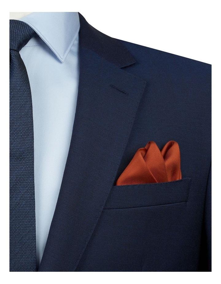 Burnt Orange Plain Silk Pocket Square image 2