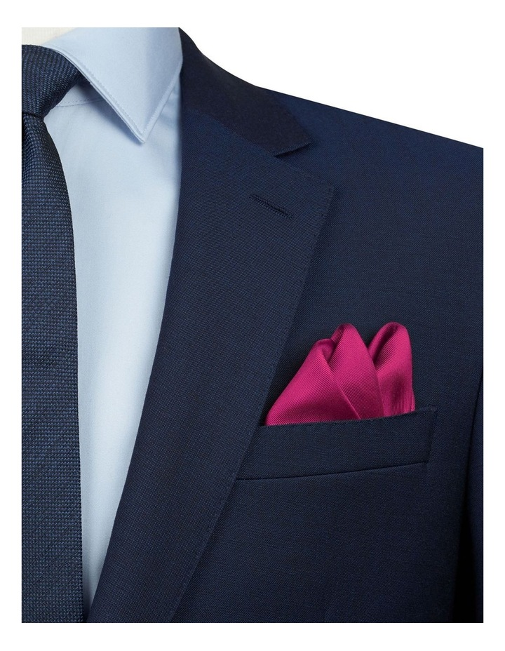 Fuchsia Plain Silk Pocket Square image 2