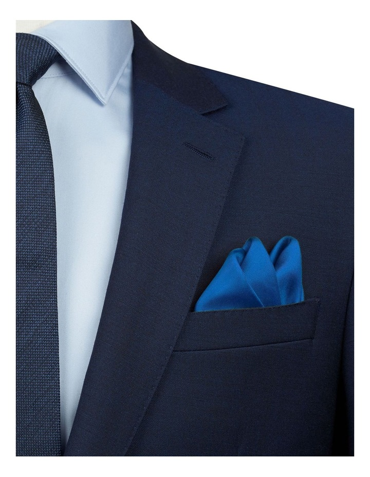 Royal Blue Plain Silk Pocket Square image 2