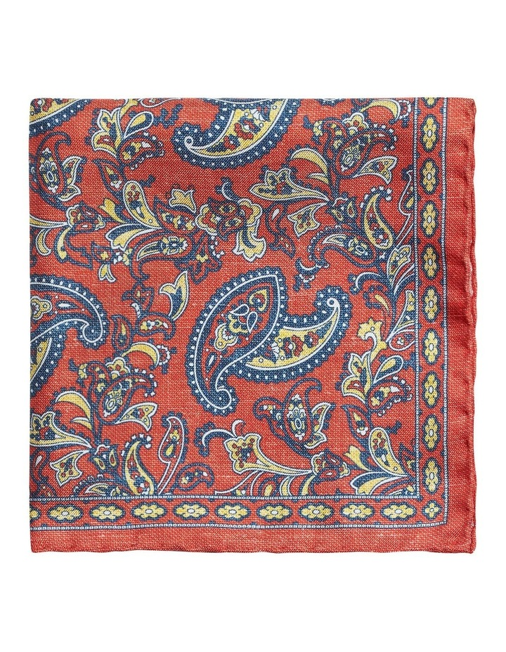 Textured Paisley Print Handkerchief image 1