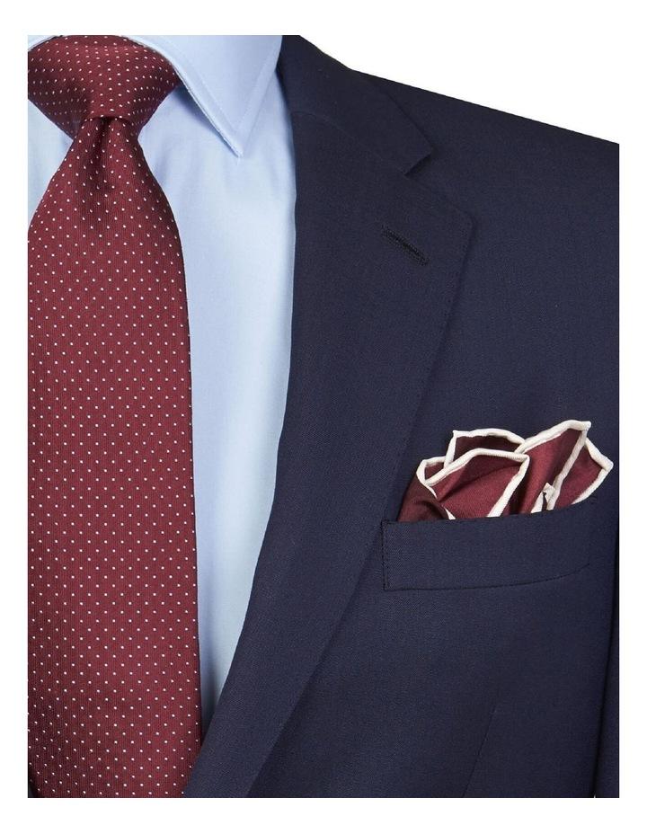 Burgundy Silk Pocket Square image 2