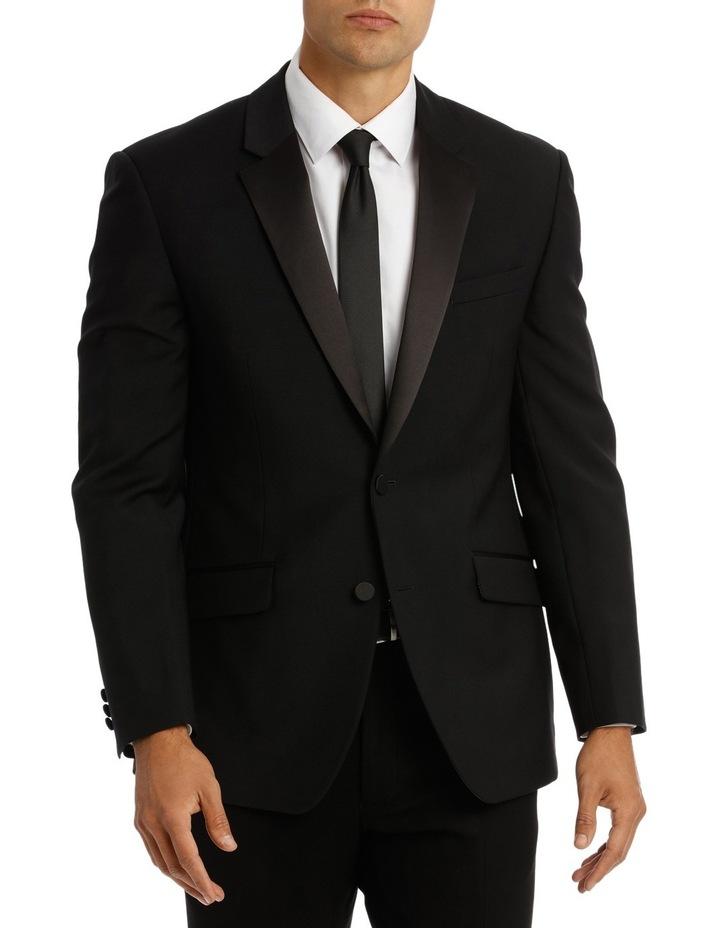 Sloane Super Black Plain Suit Jacket image 1