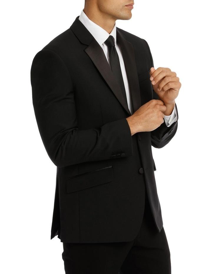 Sloane Super Black Plain Suit Jacket image 2