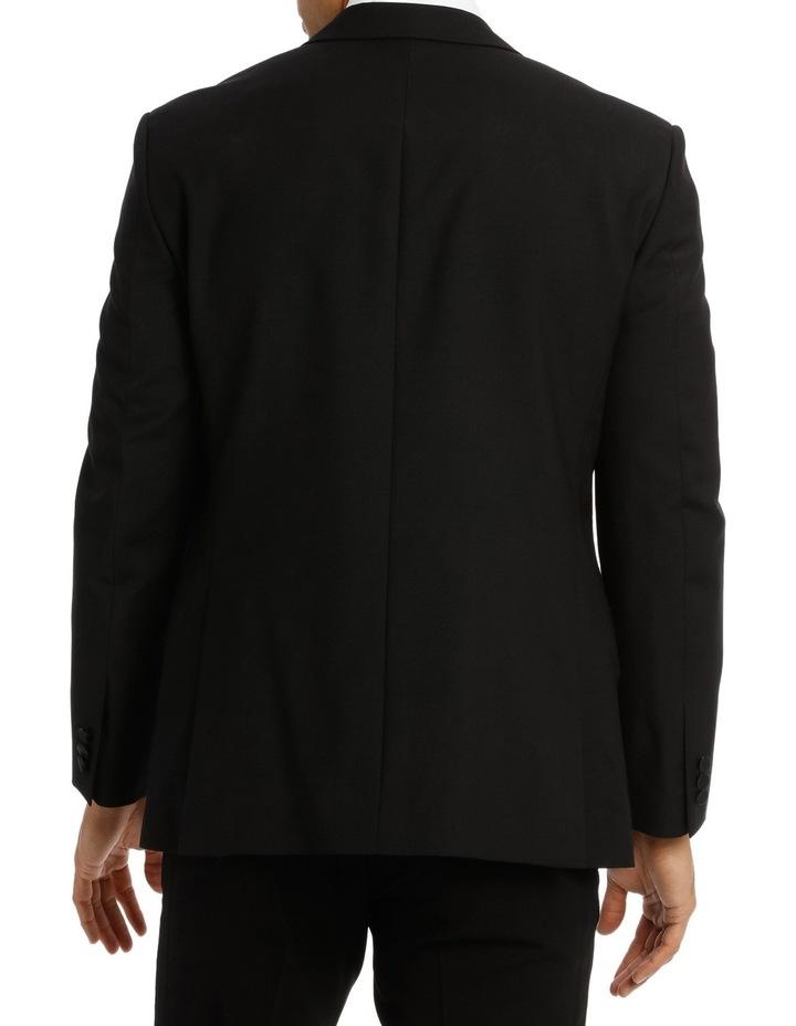 Sloane Super Black Plain Suit Jacket image 3