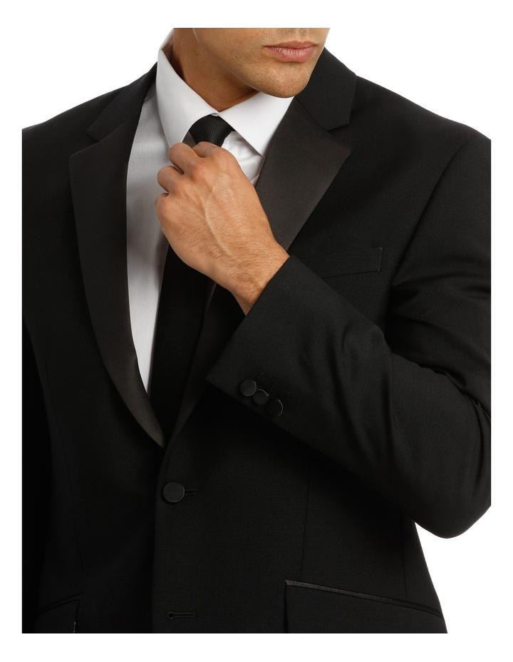Sloane Super Black Plain Suit Jacket image 4