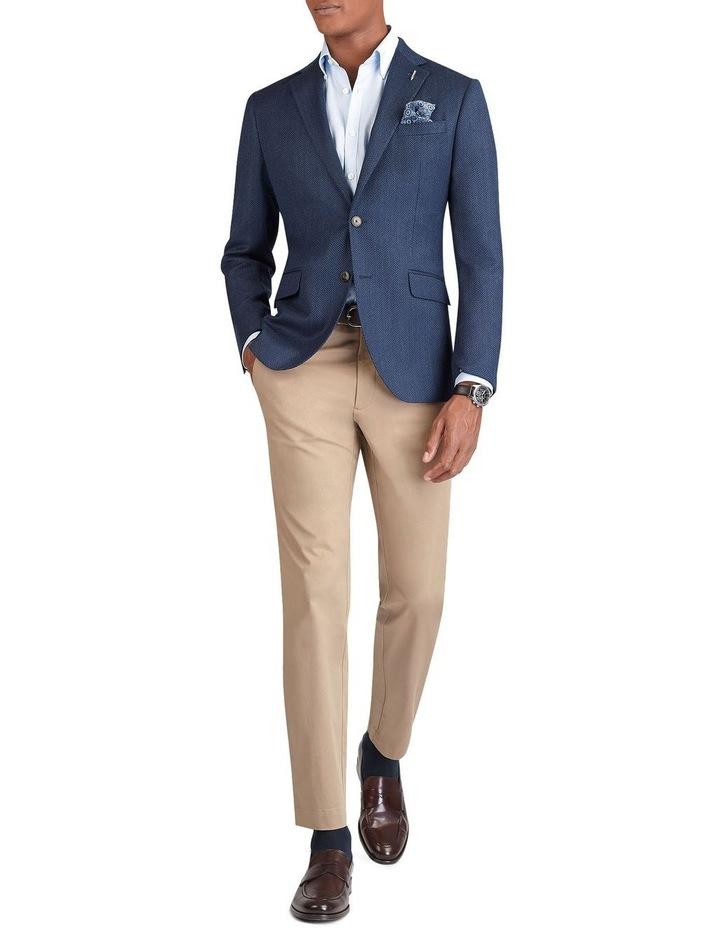 Ferriano Jacket in Blue Herringbone Lanificio Campore Wool Cashmere image 1
