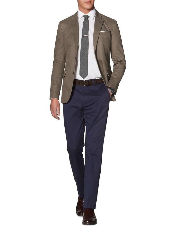 Canvey Slim Fit Jacket In Sand Cotton Blend image 1