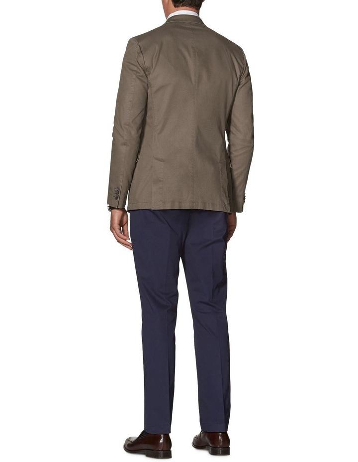 Canvey Slim Fit Jacket In Sand Cotton Blend image 2