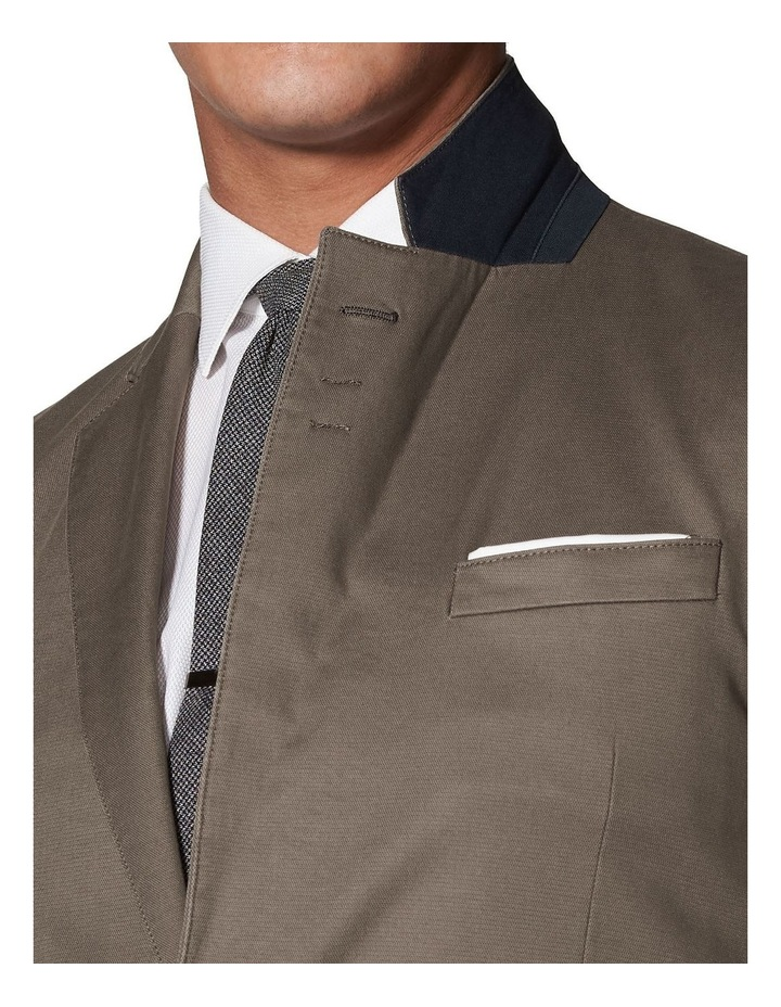 Canvey Slim Fit Jacket In Sand Cotton Blend image 3