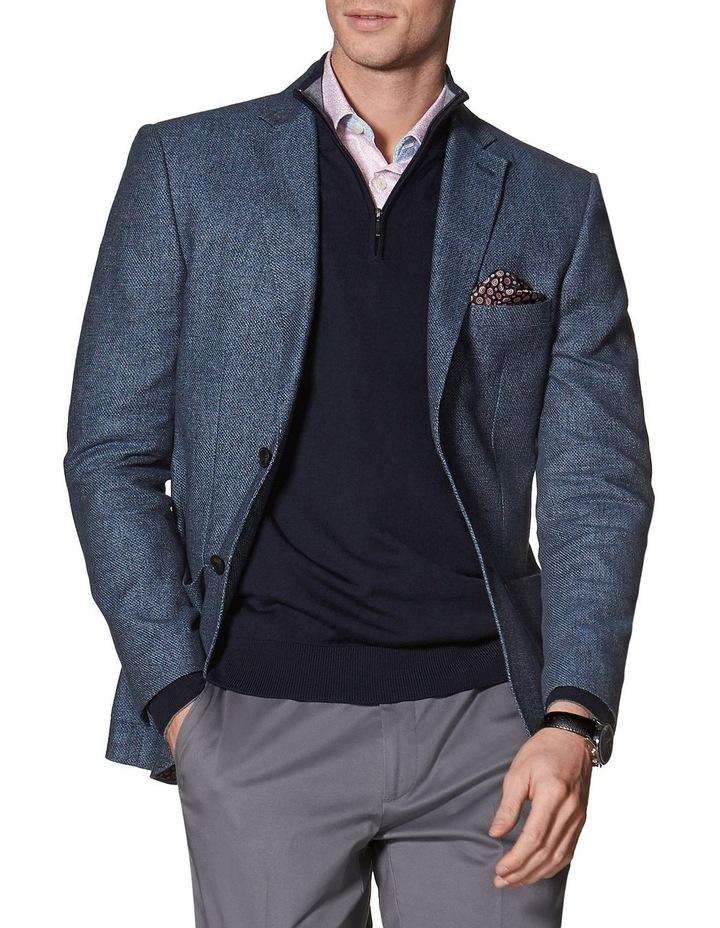 Adlington Jacket In Blue Cotton Linen image 1