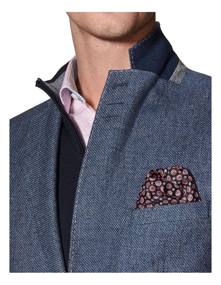 Adlington Jacket In Blue Cotton Linen image 3