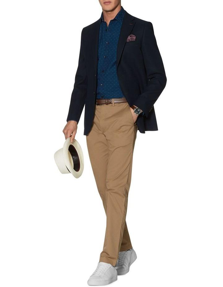 Stratford Slim Fit Jacket In Navy Jersey image 1