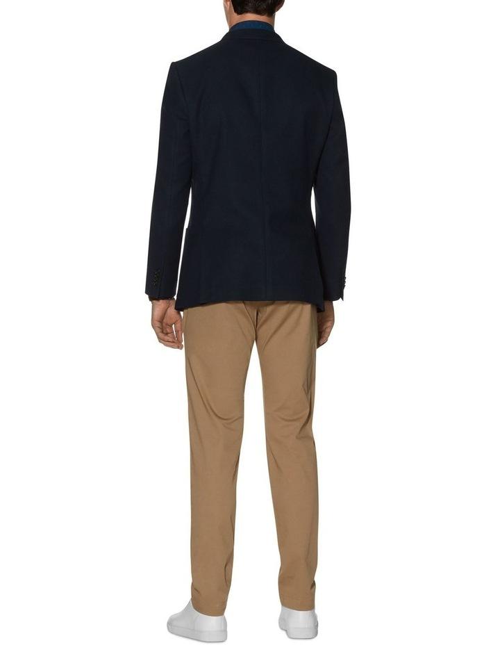 Stratford Slim Fit Jacket In Navy Jersey image 2