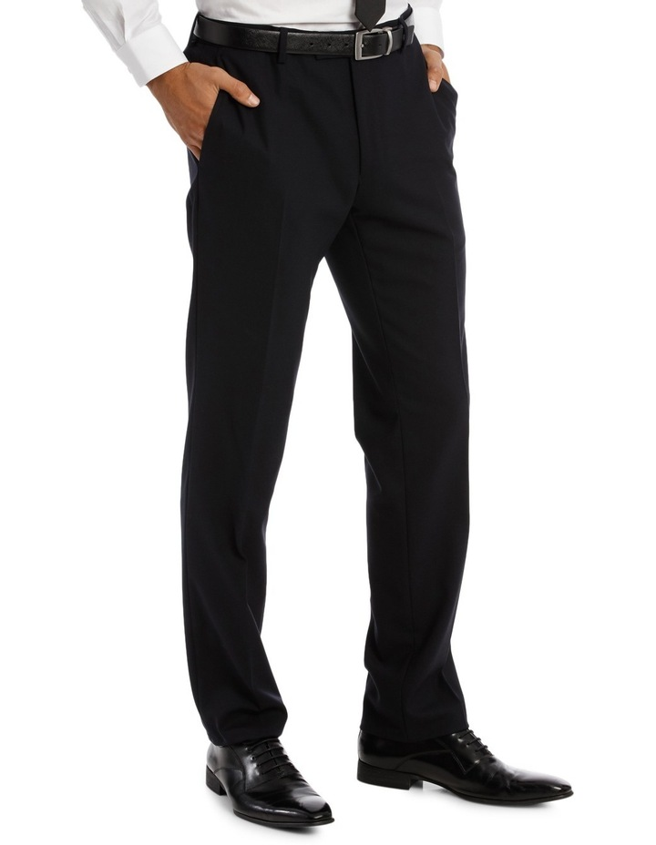 Kennington Dark Navy Plain Suit Trouser image 2